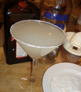 Classic Lemon Drop Cocktail (Martini?)